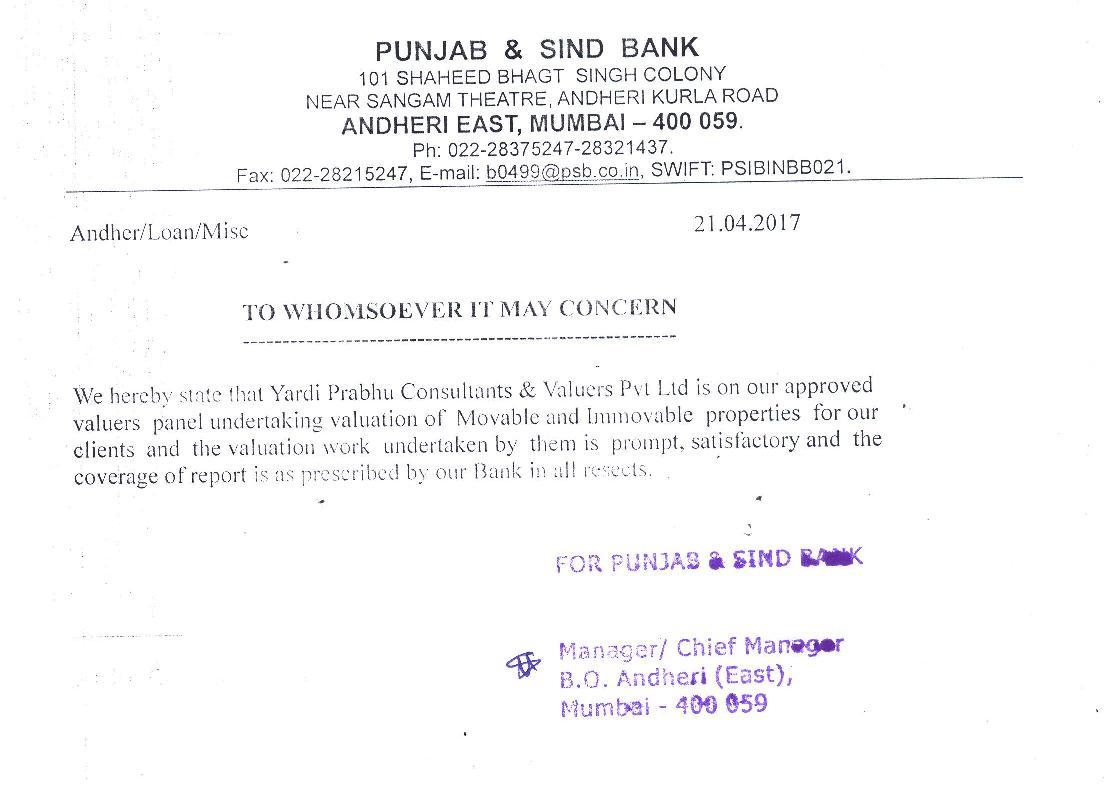 Valuation - Yardi Prabhu Consultants & Valuers Pvt  Ltd