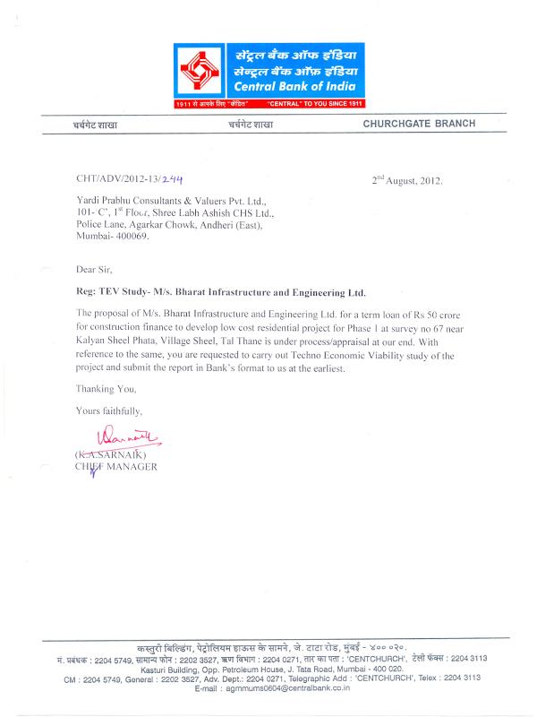 Appreciation Letters- Yardi Prabhu Consultants & Valuers Pvt